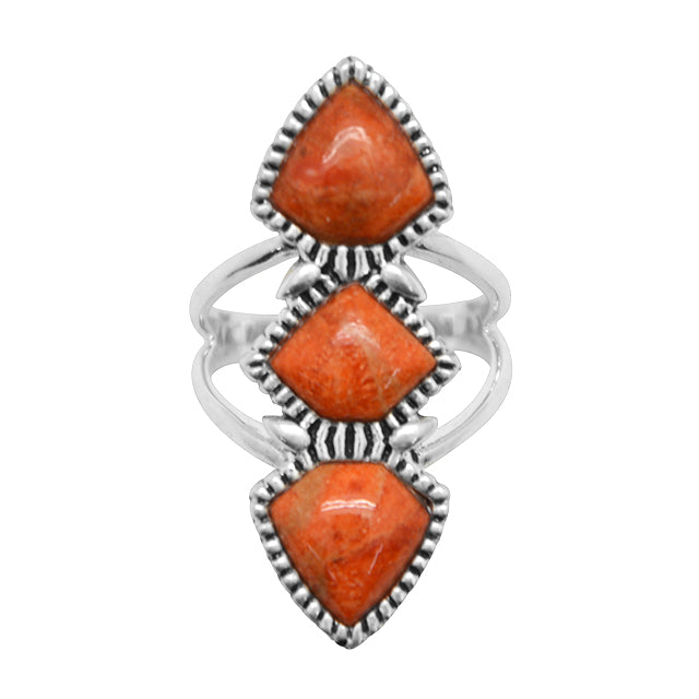 Trilogy Orange Sponge Coral Ring