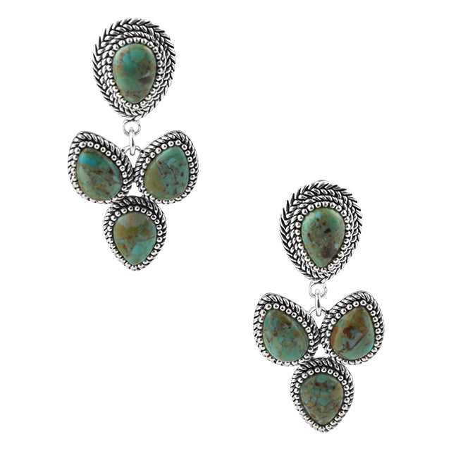 Barse Cactus Flower Clip Earring
