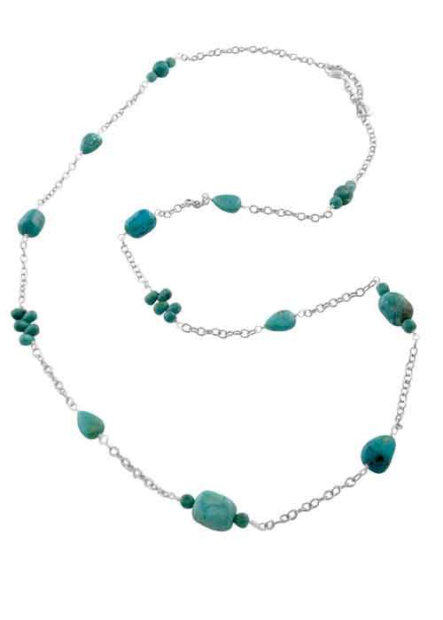 Long Sierra Turquoise Necklace