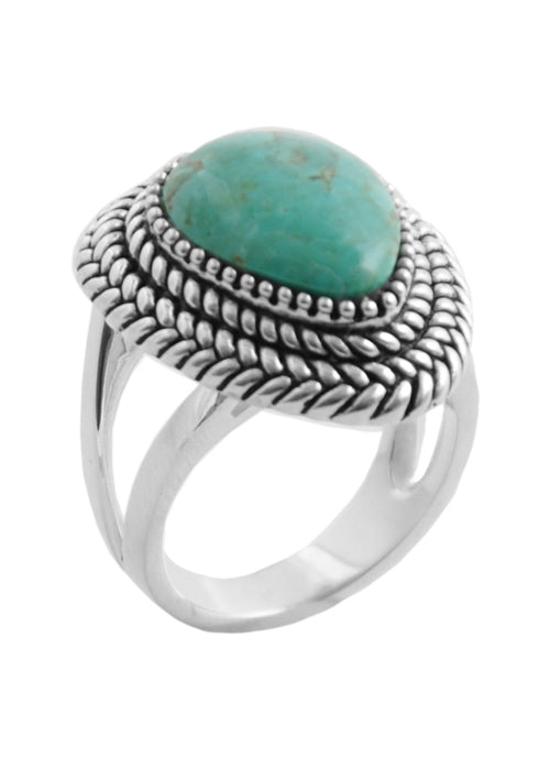 Sierra Rope Turquoise Ring