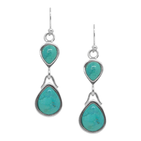Double Time Turquoise Earring