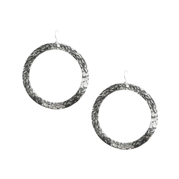 Hammered Sphere Sterling Earring