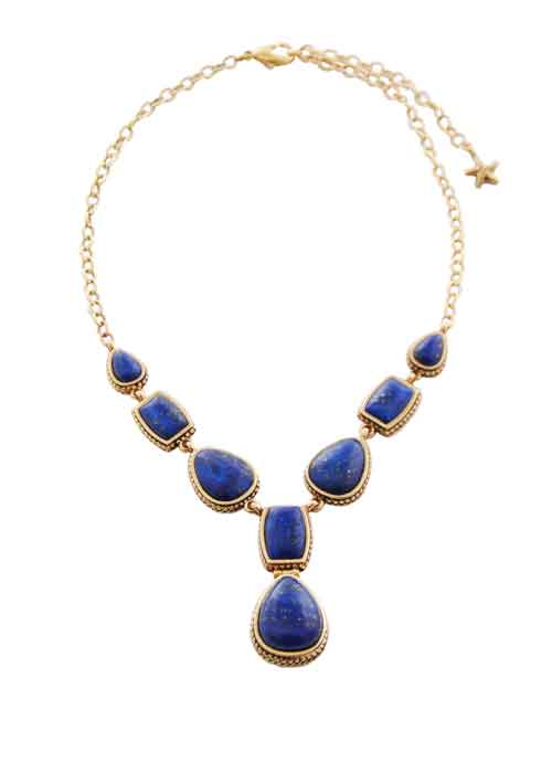 Lapis Multi-Shape Necklace