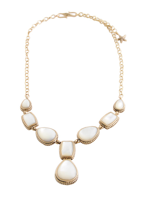 Mother of Pearl Multi-Shape Necklace
