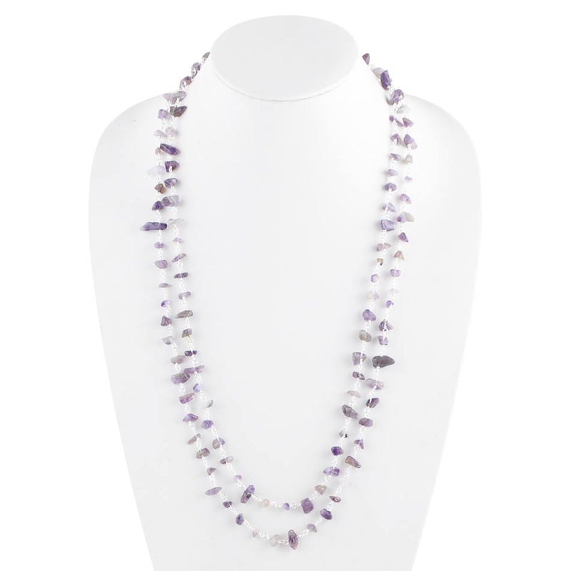 Chip Off The Old Block Amethyst Necklace