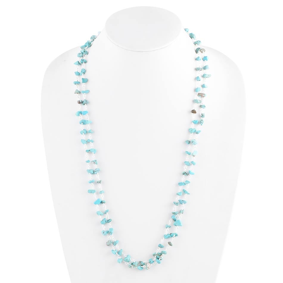 Chip Off The Old Block Turquoise Magnesite Necklace