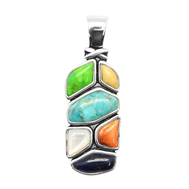 Synthesis Multi-Stone Pendant