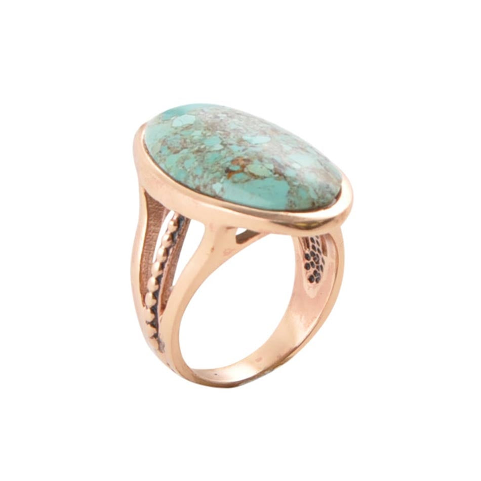 Turquoise Dreaming Copper Ring