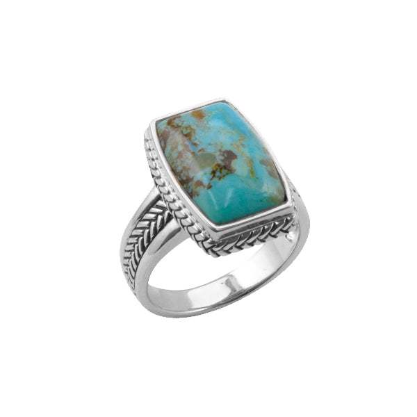 Rectangular Turquoise Ring-9