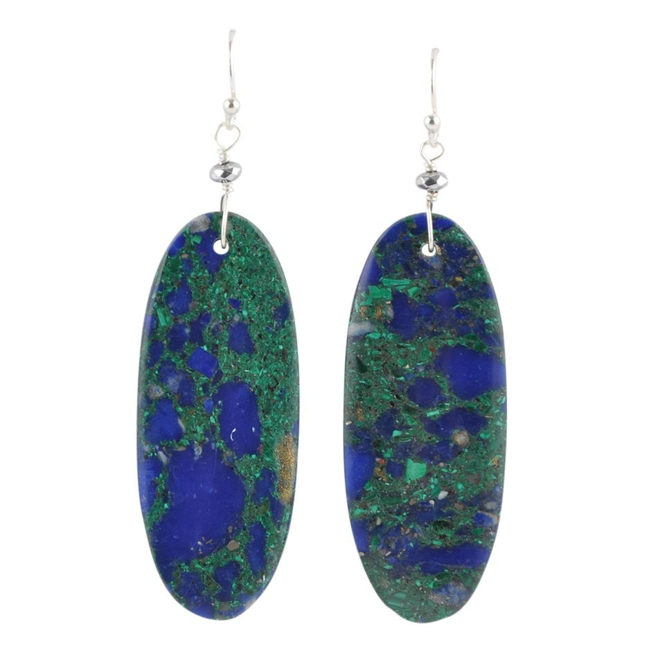 Earth Shattering Azurite Earrings
