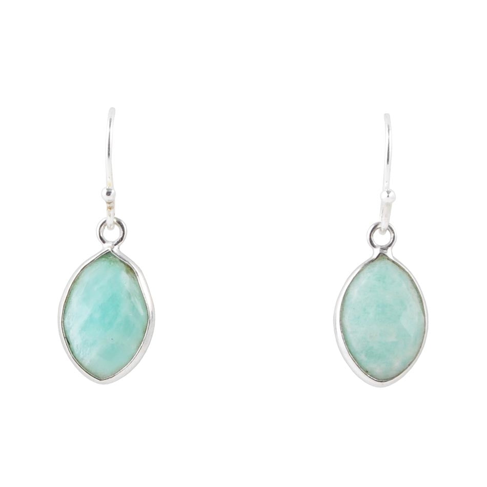Raindrop Earring-Amazonite
