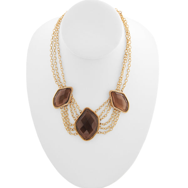 Faceted Smoky Quartz Necklace