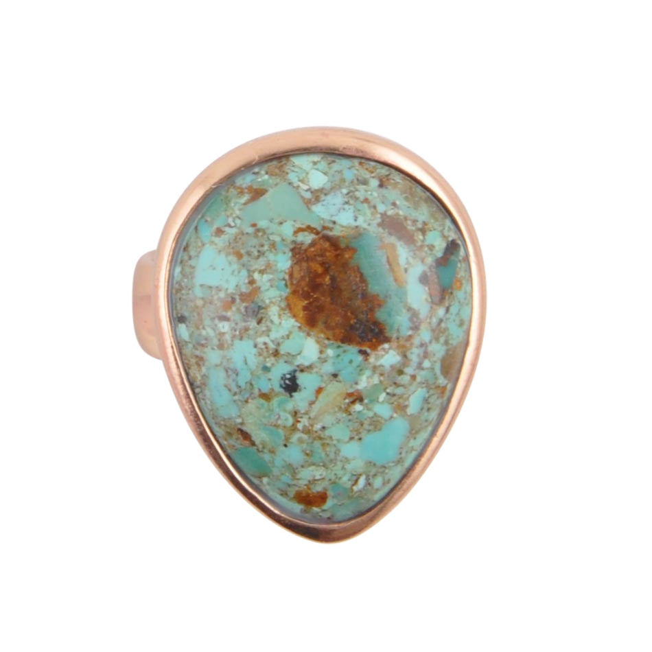 By George! Copper and Turquoise Ring