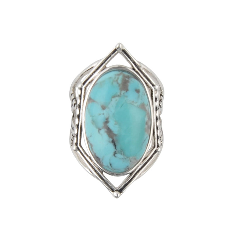 Sumptuous Sterling Silver Ring-Turquoise
