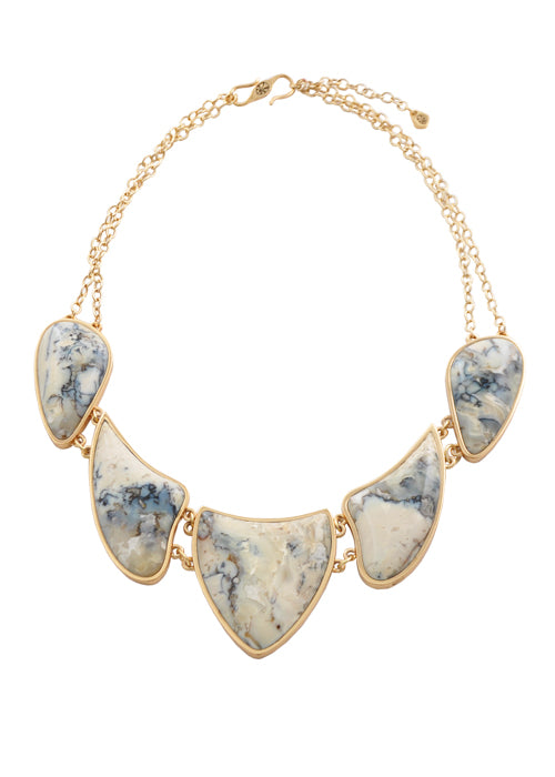 African Opal Dramatic Statement Necklace