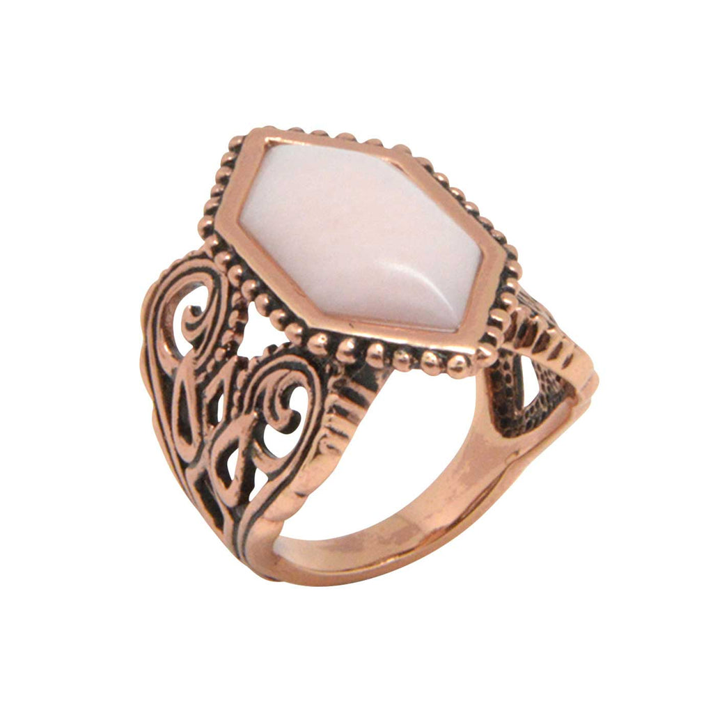 Hearts in Motion Pink Opal Ring