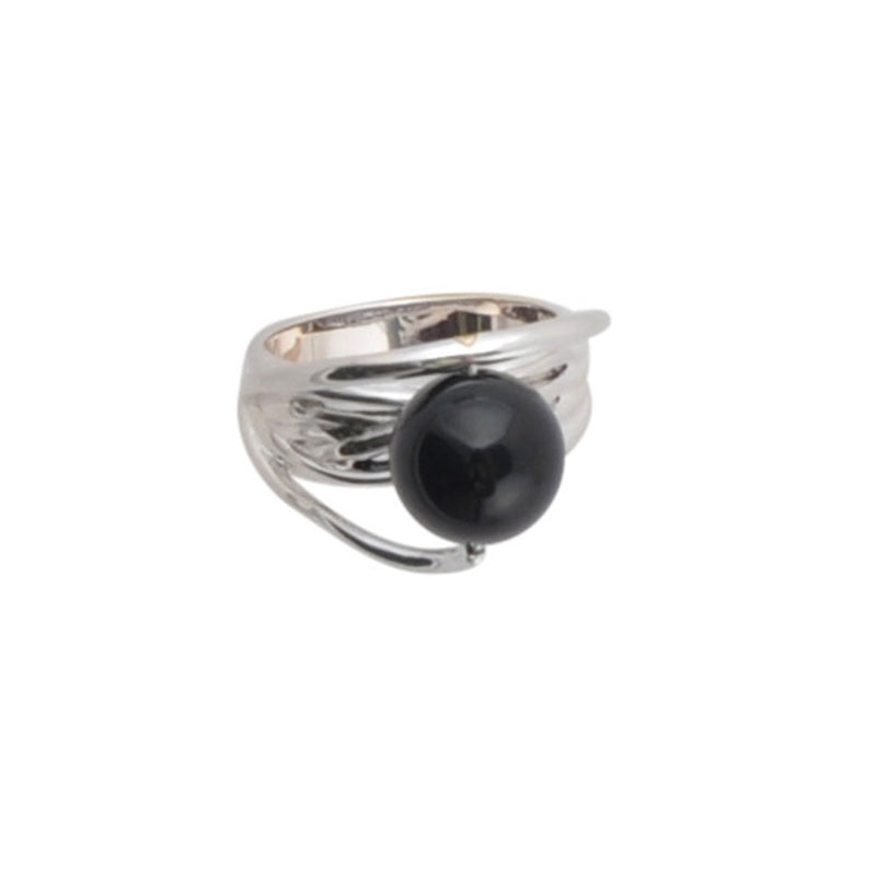 Worlds Above Onyx and Sterling Silver Ring