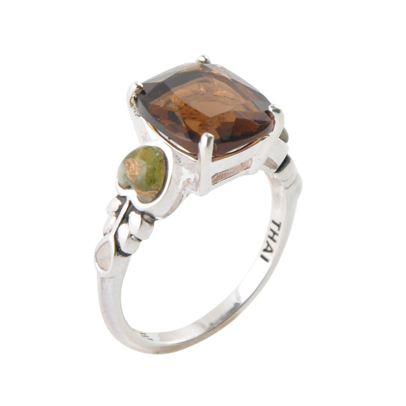 The Caroline Ring-Smoky Quartz and Unakite