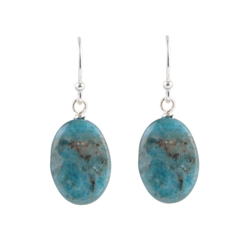 Oval Apatite Drop Earring