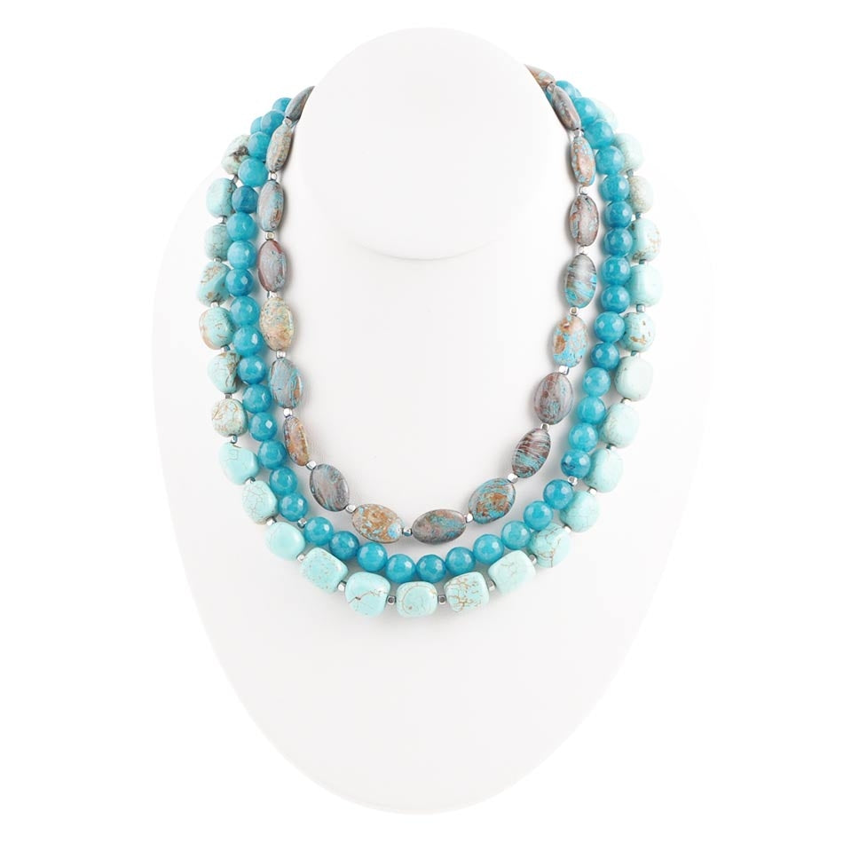 Beau-Teal-Ful Necklace