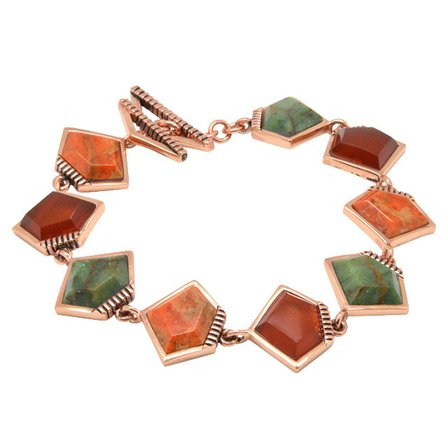Flame Thrower Copper and Stone Bracelet