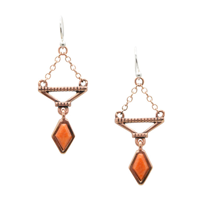 Flicker Copper and Coral Earring