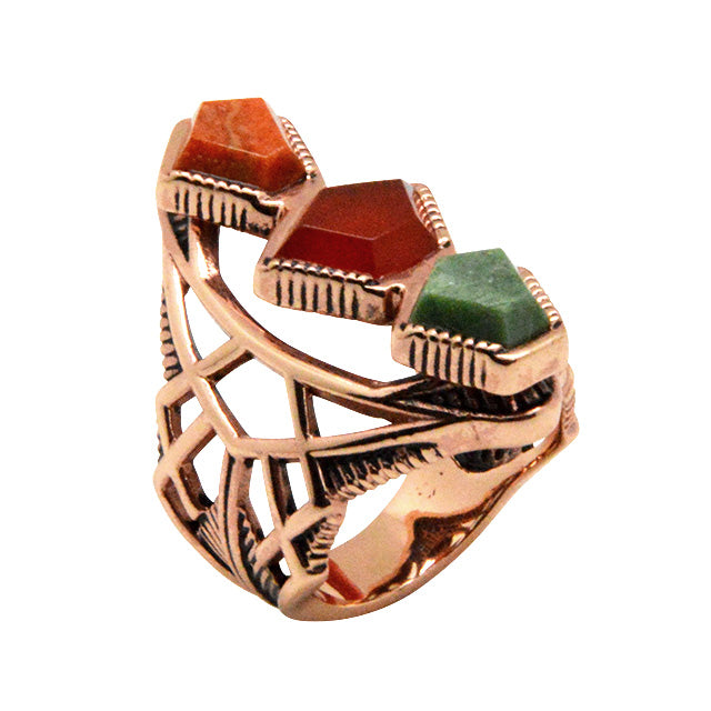 Tres Bonitas Stone and Copper Ring