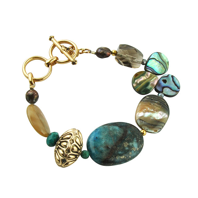 La Mer Beaded Toggle Bracelet