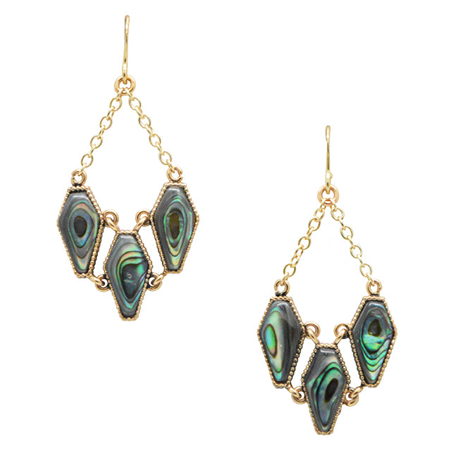 Siren Abalone and Bronze Earring
