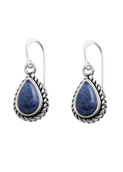 Dumortierite Teardrop Earring