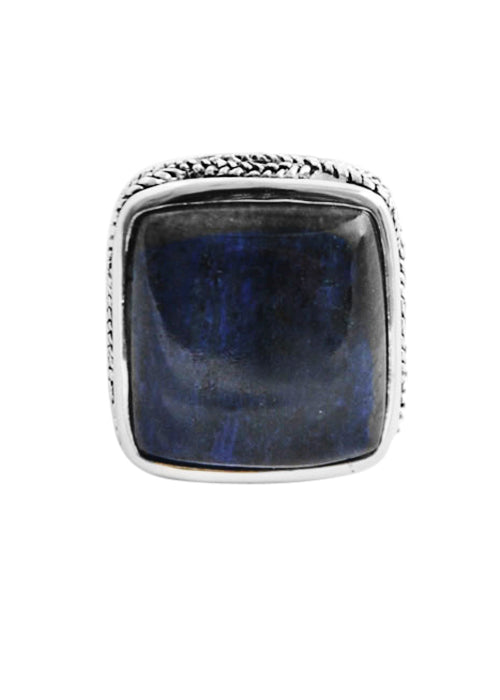 Silverplate Dumortierite Ring
