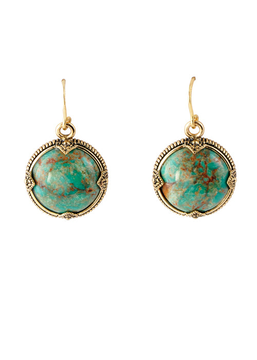 Turquoise Sphere Earring