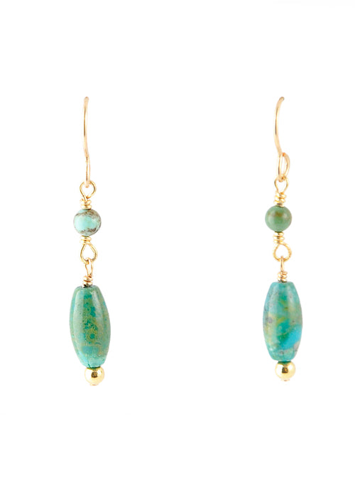 Simple Drop Turquoise Earring