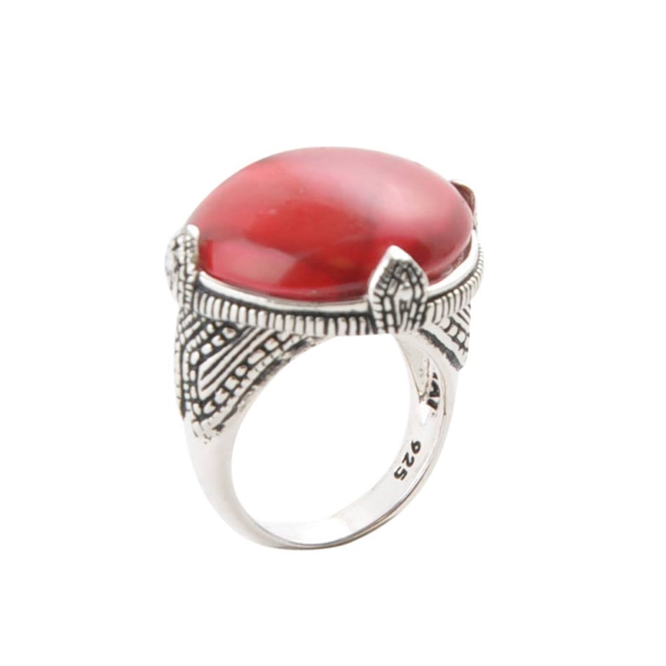 Persuasion Red Howlite Ring