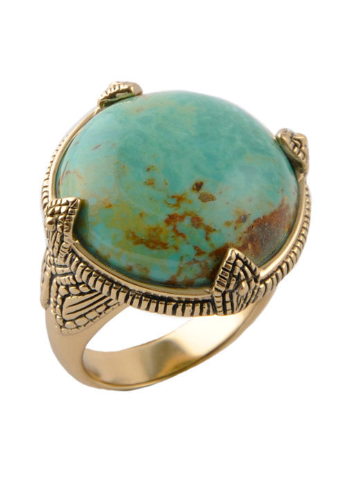 Round Turquoise Ring