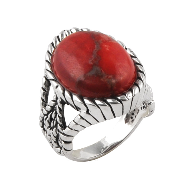 Royal Red Howlite Ring