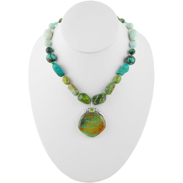 Wild Blue Yonder Necklace with Pendant