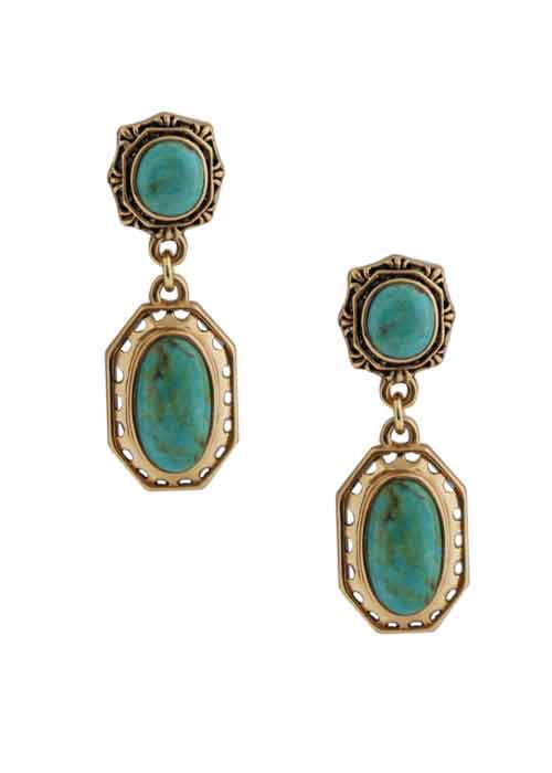 Vintage Style Turquoise Earring