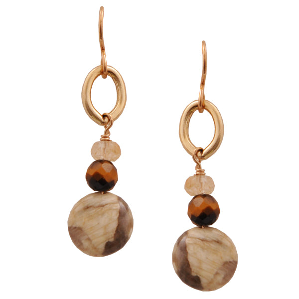 Natural Beauty Feldspar Earring