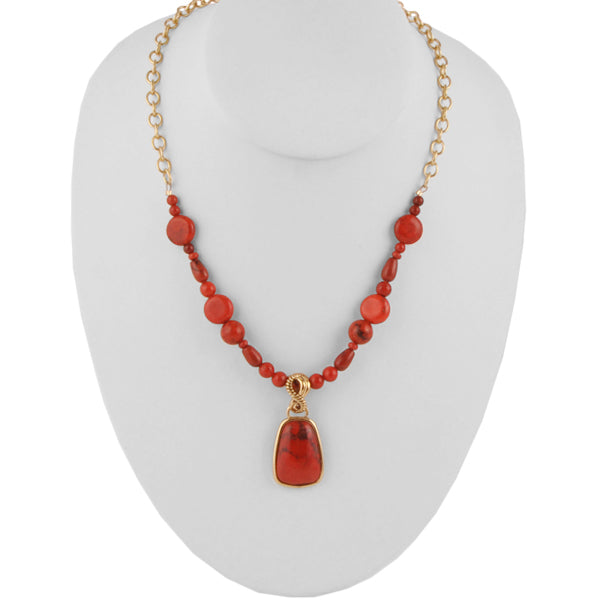 Red Rocks Stone Necklace