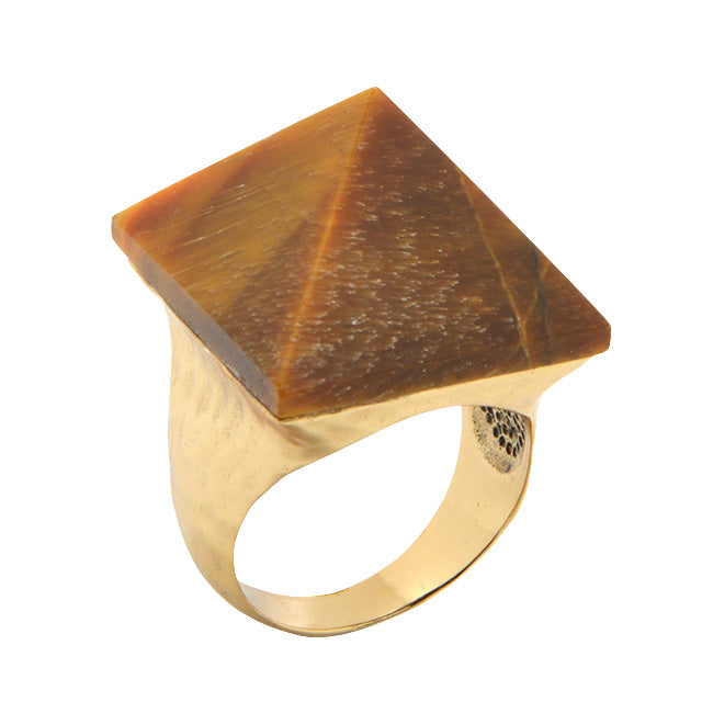 Zara Ring-Tiger Eye and Bronze