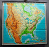 fantastic wall chart picture, map, United States, USA, America, Southern Canada