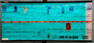 large historical pull-down wall chart first high culture orient mediterranean