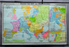 vintage wall chart picture, history, geography, map, Europe, Hohenstaufen