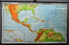 fantastic rollable wall chart picture map Central America Northern South America
