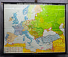 pull-down wall chart, geography map Europe 2. World war 1945 – 1970 poster print