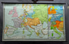 vintage wall chart poster, European peace settlement congress Vienna 1815, map