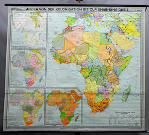 vintage poster historical wall chart, Africa, colonisation, independence