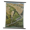 vintage poster rollable wall chart Swiss Alpine landscape torrent control plant