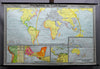 vintage rollable wall chart poster, history, geography, map, age, discoveries